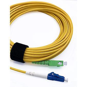 FengChun Glasfaserkabel SC/APC auf LC/UPC Simplex Singlemode 9/125 m, LWL Kabel LSZH (20M)