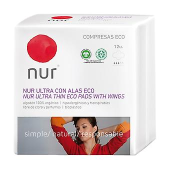 Ecological Ultra-thin Compress with Wings 12 units