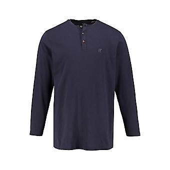 JP 1880 Henley Long Sleeve Shirt Neckless, Navy Blue, XXXL Men's