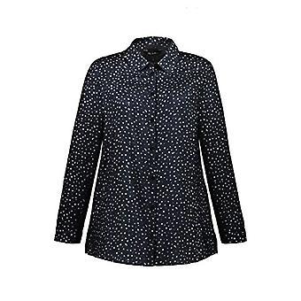 ULLA POPKEN Hemdbluse T-Shirt, Blau (Marine 75129176), 54+ Woman