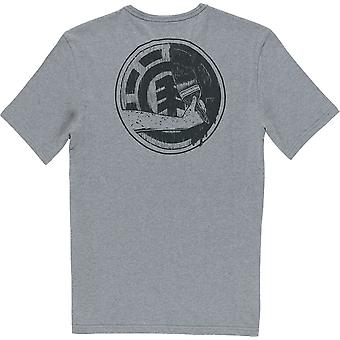 Element Painted Short Sleeve T-Shirt in Grey Heather