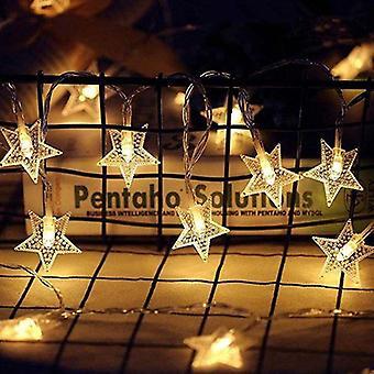 Led Snowflake Decoration 10m String Fairy Light