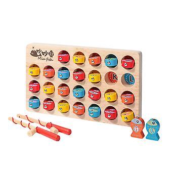 Holz magnetische Angeln Spiel Montessori Abc Alphabet Sortierung Puzzle| Gags & Praktische Witze