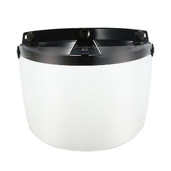 Universal 3 snap flip up visir skjold linse for retro åpent ansikt motorsykkel hjelm