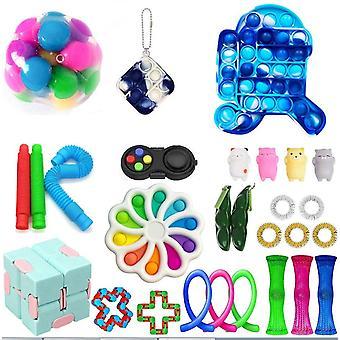 Sensory Fidget Zabawki Zestaw Zestaw Stress Relief Zabawki