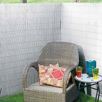 Natuur Dubbelzijdig tuinscherm PVC 1×3 m Wit