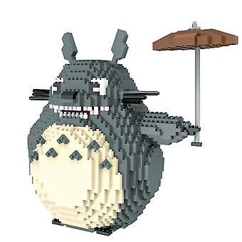 New My Neighbor Totoro Building Blocks Puzzle Micro 3d Figures Educational Brick Toys ES7527