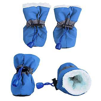 4pcs/set Waterproof Winter Pet Dog Shoes Anti-slip Rain Snow Boots