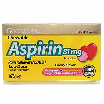 Good Sense Aspirin, 81 mg, 36 Tabs