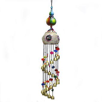 National Characteristics Bamboo Drum Dragon Bell 16 Metal Ornaments Wind Chimes