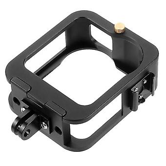 Protective cage housing for gopro max quick release metal frame shell case cold shoe 1/4 mount 360 panoramic accessories
