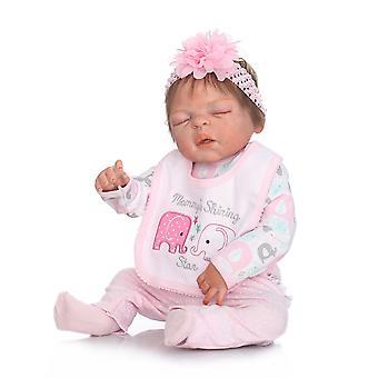 48Cm bebe realista renacido premie muñeca bebé pintura detallada meñique mirada de silicona de cuerpo completo anatómicamente correcta