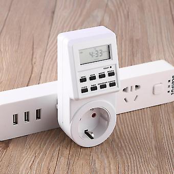 Presa interruttore timer programmabile plug-in con orologio ora legale Eu Plug