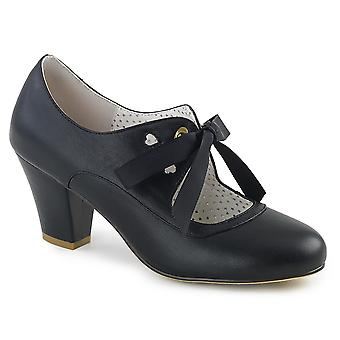 Pin Women's Shoes Up Blk Faux Leather