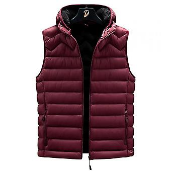 Men's Autumn And Winter Vests Fashion Down Cotton Vest Wild Thick Hooded Waistcoat