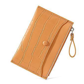 Ultratenká multi-karetní slot pu karta taška krátké dámské mince kabelka (Orange)