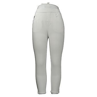 Quacker Factory Women's Jeans DreamJeanne Pull On Leggings White A393168