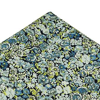 Ties Planet Chive Flower Pattern Pocket Square Made With Liberty Fabric