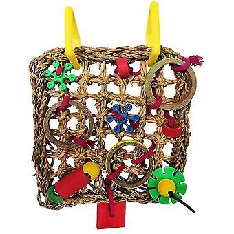 Bird climbing net parrot toy(White)