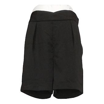 Du Jour Women's Shorts High-Waisted with Seaming Detail Black A354460
