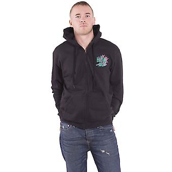 Blink-182 Hoodie Double Six Arrow Smile Band Logo new Official Mens Black Zipped