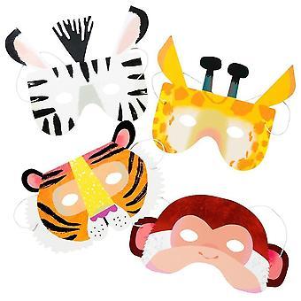 Party mask animal tiger giraffe zebra masquerading