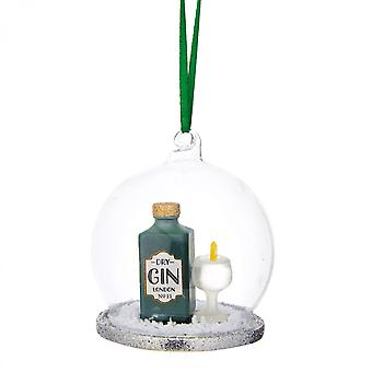 Sass and Belle Gin and Tonic Glass Bauble