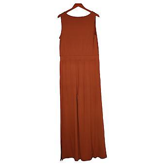 G av Giuliana Kvinners Jumpsuits Reg Strikket Solid Orange 649943
