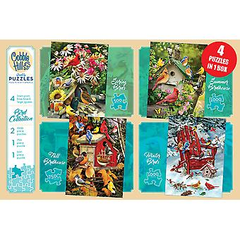 Cobble hill - 4 pack bird collection puzzles - cobble hill - pack de 4 puzzles bird collection
