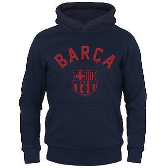 FC Barcelona Boys Hoody Fleece Graphic Kids OFFICIAL Football Gift