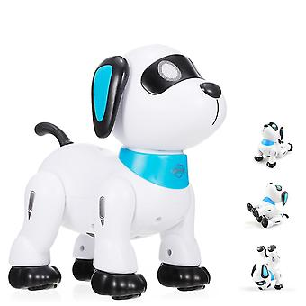 Robotic toys electronic robot dog stunt dog remote control programmable touch music dancing toy|rc robot white