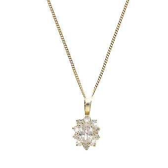 Eira Wen  Necklace With Cubic Zirconia Pendant Set In Gold Chain Jewellery For Women Ladies Anniversary Birthday Mothers Day Gifts For Her Mum Wife Gi