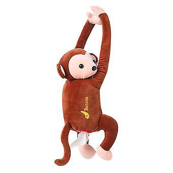 Venalisa Pluszowe Pipi Monkey Toy Style Anime Tissue Holder Tissue Box Do samochodu Home Bathroom