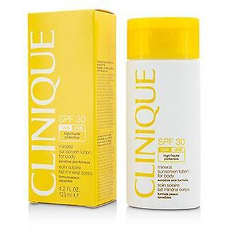 Clinique mineral loção protetor solar para corpo SPF 30-fórmula pele sensível-125ml/4oz
