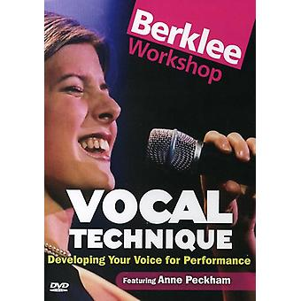 Vocal Technique-Developing Your Voice for Performa [DVD] USA import