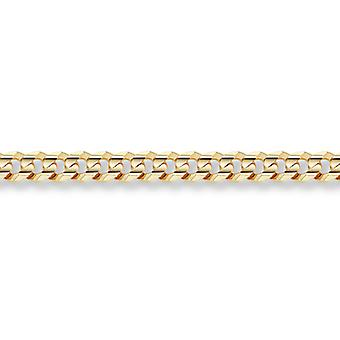 14K Gold 7mm Bordstein Armband