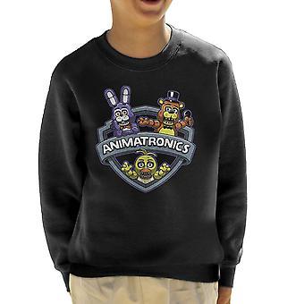 Animatronics Maniacs One Night At Freddys Kid's Sweatshirt