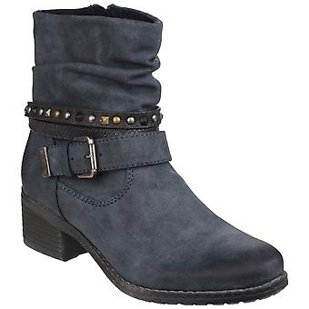 Divaz Womens West Zip up Ankle Boot