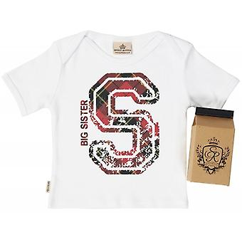 Spoilt Rotten S For Big Sister Babys T-Shirt 100% Organic In Milk Carton