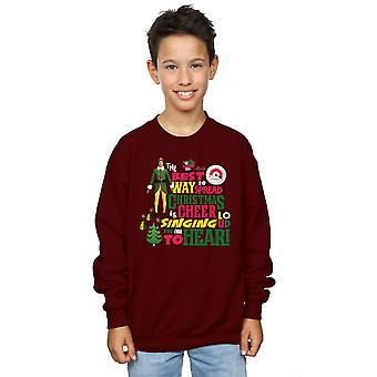 एल्फ लड़कों क्रिसमस चियर स्वेटर