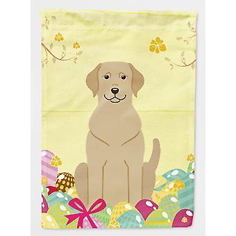 Carolines skarby BB6055GF Wielkanoc jaja Yellow Labrador flaga Garden rozmiar