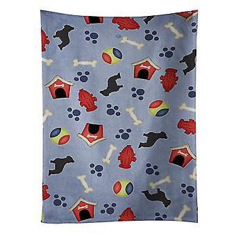 Каролинских сокровища BB3926KTWL Бриар собака дом коллекции кухонных полотенец