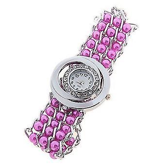 Ladies Pearl Bracelet Strap White Dial Watch BGPURP1
