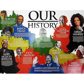 Our Black History Poster African American (24x18)
