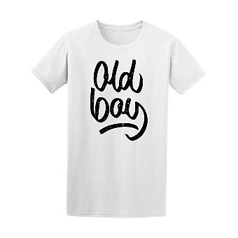 Old Boy Ink Calligraphy Tee Men's -Image by Shutterstock