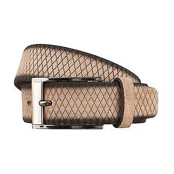 BERND GÖTZ velour leather belts men's belts leather belt sludge 3134