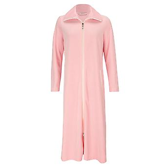 Féraud 3883036-10013 Women's Peach Pink Cotton Robe Loungewear Bath Dressing Gown