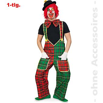 Clown drakt mens rutete bukser Clownkostüm bukser menn drakt