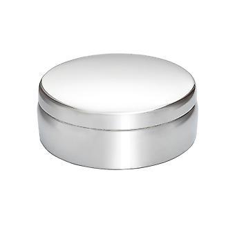 6Cm platte ronde tinnen Snuisterijdoosje
