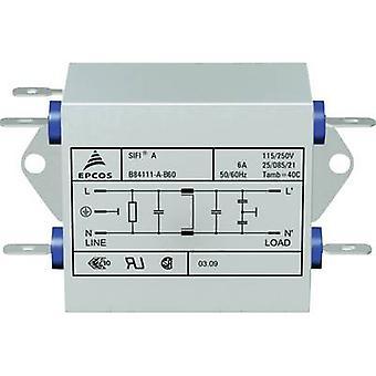 TDK B84111A0000B110 EMI-suodatin 250 V AC 10 A 0,82 mH (p x l x k) 77 x 63,5 x 38,1 mm 1 kpl (s)